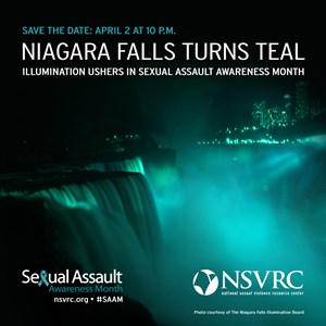 Niagara Falls will turn teal to commemorate Sexual Assault Awareness Month